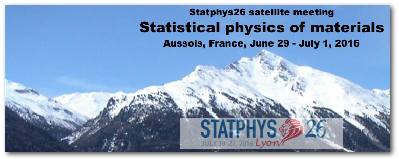Workshop on Statistical Physics of Materials